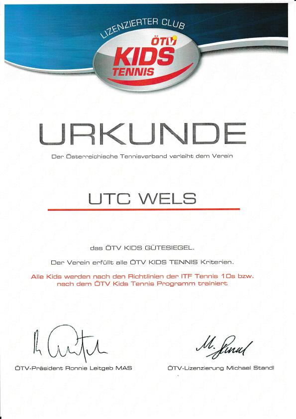 UTC-Wels-2018-OETV-Kids-Tennis-Urkunde